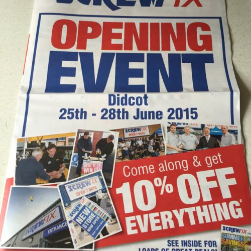 10 Off Everything Screwfix Didcot Hotukdeals