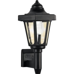 black solar outdoor wall light argos hotukdeals. Black Bedroom Furniture Sets. Home Design Ideas