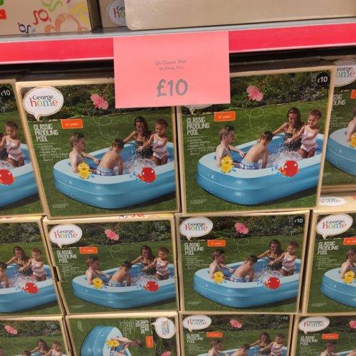 Asda classic paddling pool 10 hotukdeals for Paddling pools deals