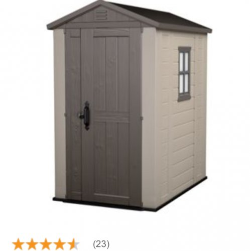 keter plastic shed 6 x 4 at homebase for 15 off. Black Bedroom Furniture Sets. Home Design Ideas