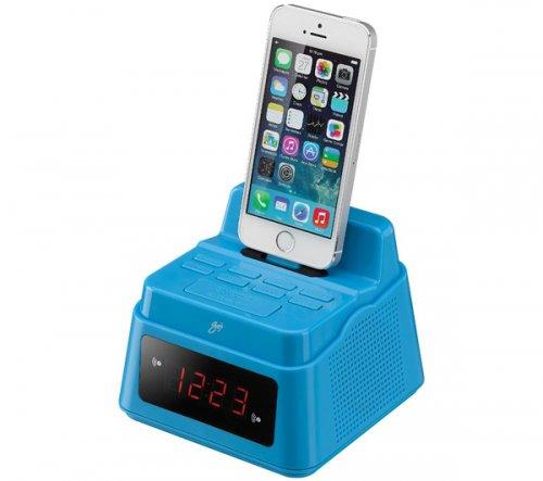 goji gcrlin14 analogue clock radio with lightning connector blue curr. Black Bedroom Furniture Sets. Home Design Ideas