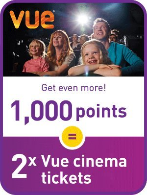 Vue Cinema proudly offers a total of , cinemas across the UK, with almost all of these being stadium-style, stepped seating for optimum viewing comfort. Across the UK, Vue also offers a range of other entertainment content including the latest blockbusters.
