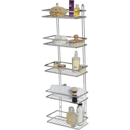 5 tier wall mounted shower caddy now better than half. Black Bedroom Furniture Sets. Home Design Ideas
