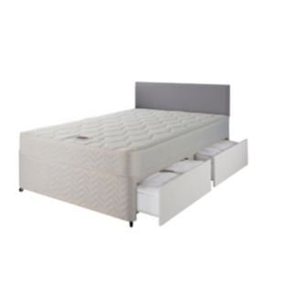 Airsprung Kingsize 4 Drawer Divan Bed With Memory Foam Mattress Delivered With Code