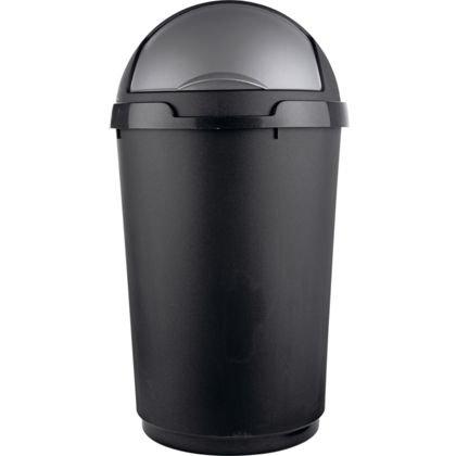 living 50 litre roll top bullet kitchen bin black. Black Bedroom Furniture Sets. Home Design Ideas