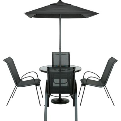 Andorra 4 seater garden furniture set homebase in for Garden furniture set deals