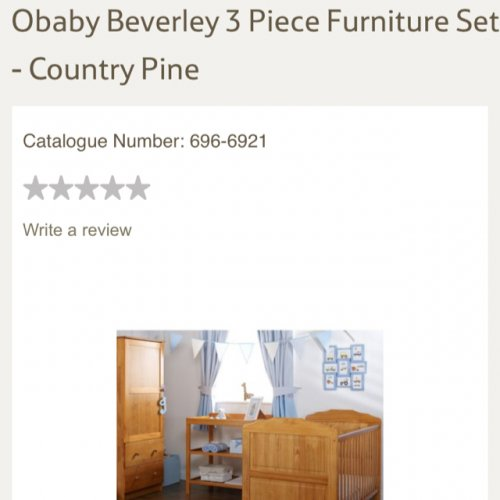 3 Piece Nursery Furniture Set Tesco Direct Hotukdeals