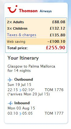 Late deals from glasgow to majorca