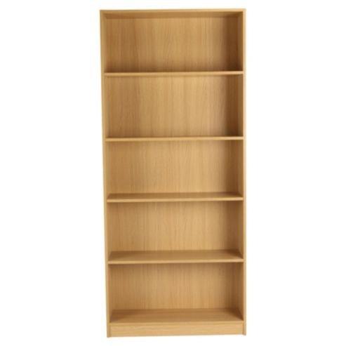 fraser 5 shelf wide bookcase oak effect 163 29 95 or 163 22