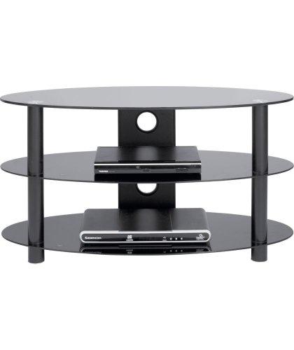Black Glass 32 Inch Curved Slimline Tv Stand 163 21 99