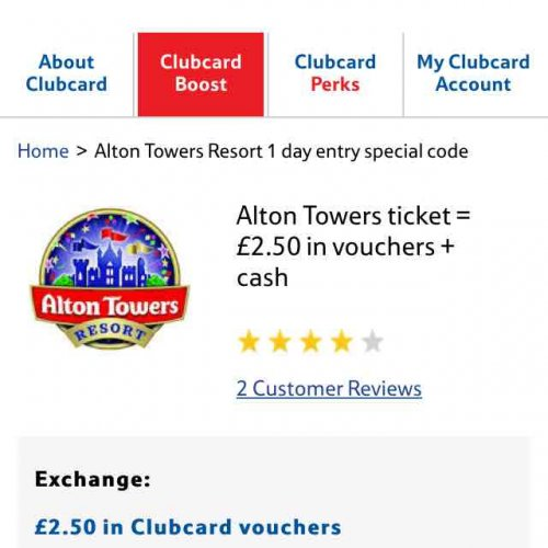 Deals offers alton towers