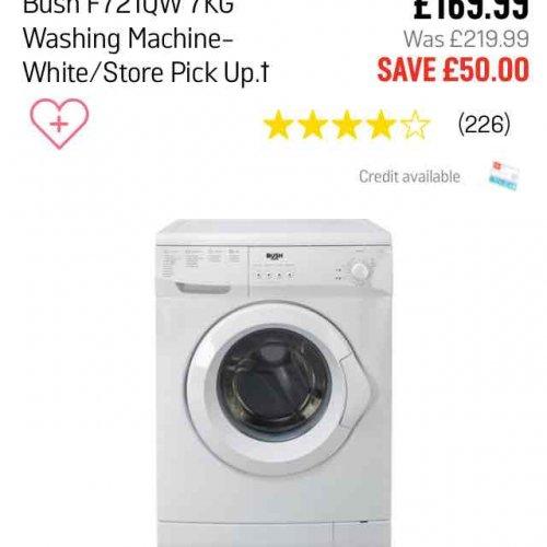 bush washing machine argos hotukdeals. Black Bedroom Furniture Sets. Home Design Ideas