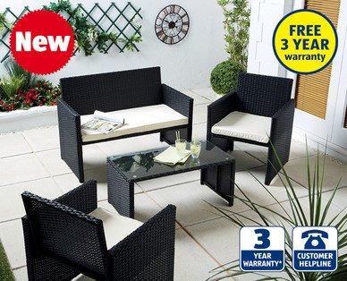 4 piece rattan effect furiture set aldi hotukdeals. Black Bedroom Furniture Sets. Home Design Ideas