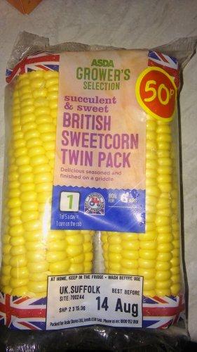 twin pack sweetcorn 50p asda hotukdeals. Black Bedroom Furniture Sets. Home Design Ideas