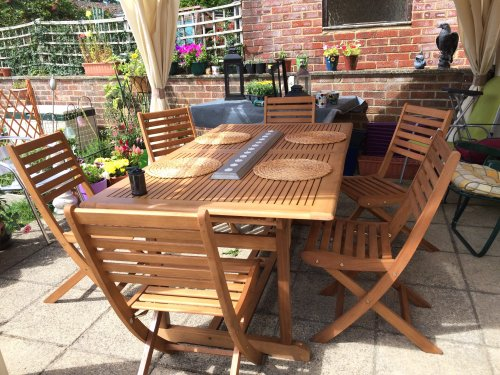 Backyard Table Match :  Garden Table ?88 Clearance, Pair Matching Chairs ?22  HotUKDeals