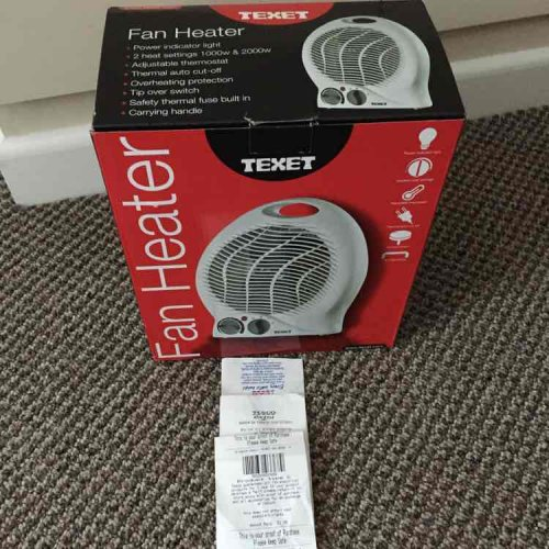 fan heater reduced to just in store tesco hotukdeals. Black Bedroom Furniture Sets. Home Design Ideas