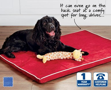 large memory foam pet bed from 13th august aldi. Black Bedroom Furniture Sets. Home Design Ideas
