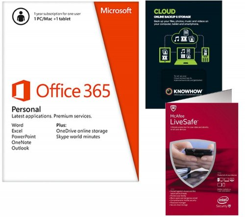 microsoft office 365 personal and mcafee livesafe from autos post. Black Bedroom Furniture Sets. Home Design Ideas
