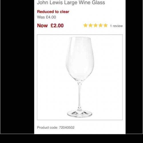 john lewis large wine glasses 2 each p p or 2. Black Bedroom Furniture Sets. Home Design Ideas