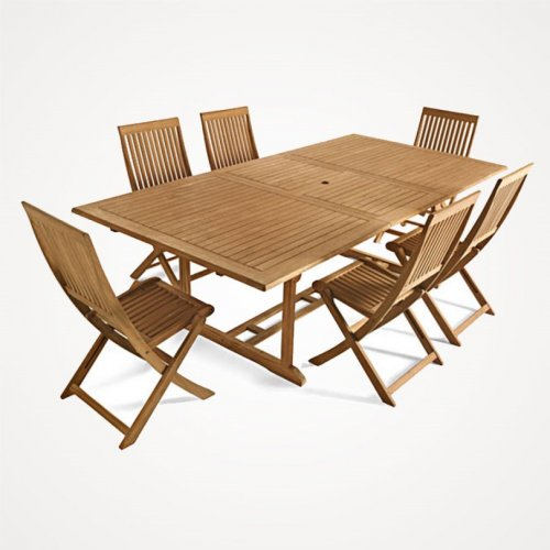 B q stanmore roscana teak garden furniture clearance hotukdeals - Table jardin castorama ...