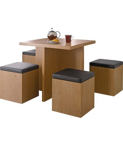 hygena boston spacesaver table and 4 chairs