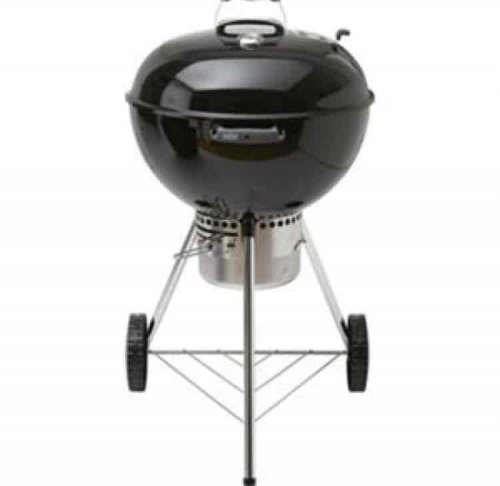 Large 57cm weber one touch premium bbq at homebase in for Barbecue weber one touch premium