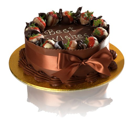 8 Quot Double Chocolate Delight Celebration Cake Delivered 163 24