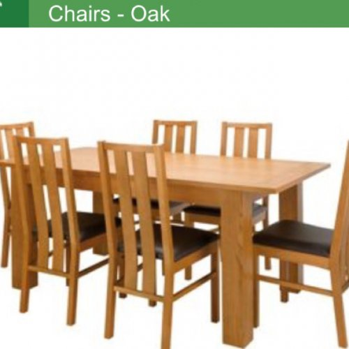 Dining Table 6 Chairs 163 149 95 Homebase Hotukdeals
