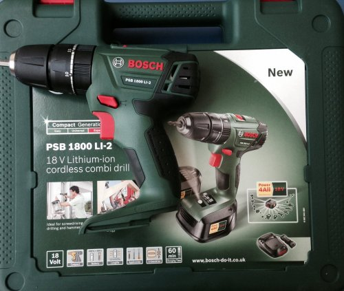 bosch psb 1800 li cordless drill body only carrying case amazon hollywell tools. Black Bedroom Furniture Sets. Home Design Ideas