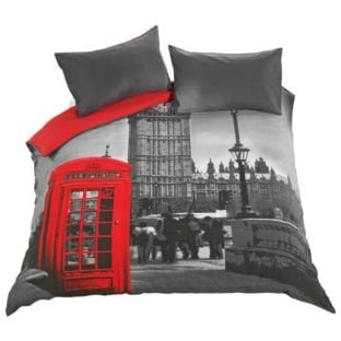 london phonebox bedding set double argos was. Black Bedroom Furniture Sets. Home Design Ideas
