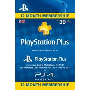 sony playstation plus membership 12 months. Black Bedroom Furniture Sets. Home Design Ideas