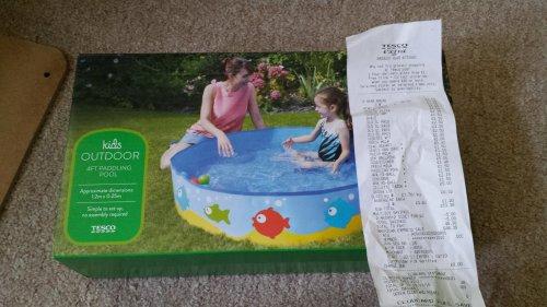 4ft outdoor kids paddling pool instore tesco for Garden pool tesco