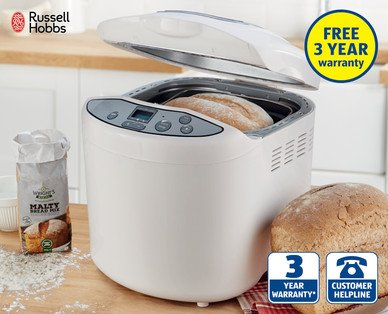 russel hobbs compact breadmaker in store at aldi for 39. Black Bedroom Furniture Sets. Home Design Ideas
