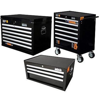 halfords 3 piece industrial tool cabinet bundle offer 399. Black Bedroom Furniture Sets. Home Design Ideas