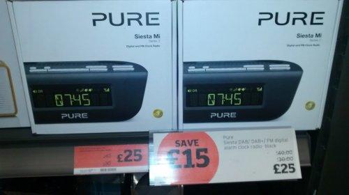 pure siesta mi series 2 dab clock radio 25 sainsburys hotukdeals. Black Bedroom Furniture Sets. Home Design Ideas