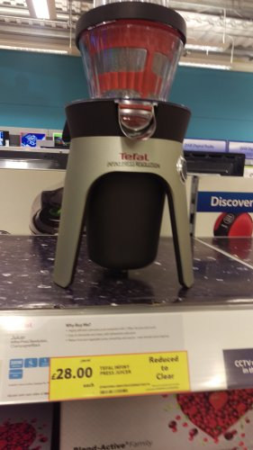 Tefal Cold Press Juicer Zc500 : Tefal infinity press juicer, ?199 down to ?28 @ Tesco - HotUKDeals