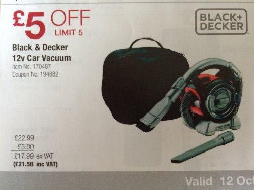 Black Amp Decker 12v Car Vac Costco 12th Oct Until 1st Nov