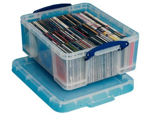 Really Useful Storage Box Plastic 18 Litre Cds Dvds 163 7