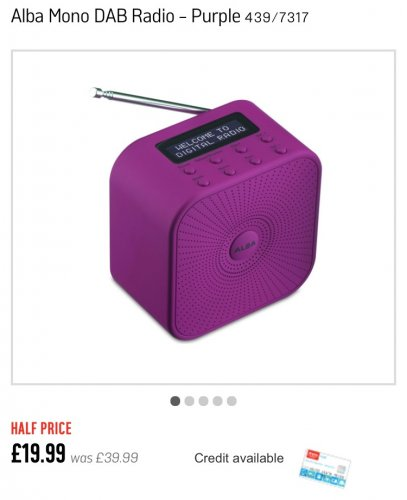 dab digital radio reduced to from argos hotukdeals. Black Bedroom Furniture Sets. Home Design Ideas