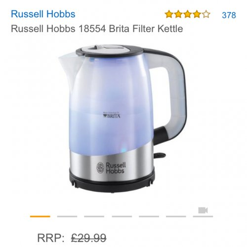 russell hobbs 18554 brita filter kettle amazon. Black Bedroom Furniture Sets. Home Design Ideas