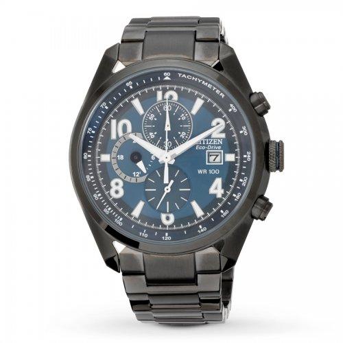 citizen eco drive mens blue black bracelet 163