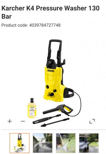 karcher k4 pressure washer 130 bar departments diy. Black Bedroom Furniture Sets. Home Design Ideas