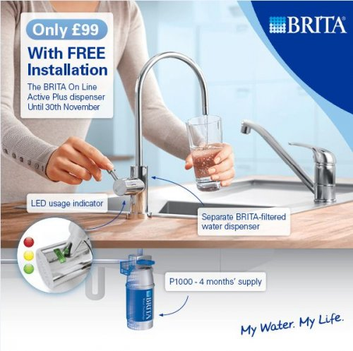 Brita on line active plus dispenser free installation 99 - Brita online active plus ...