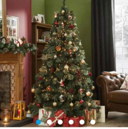Luxurious Christmas Trees: 7ft Luxury Christmas Tree, Regency Fir £60 @ Tesco