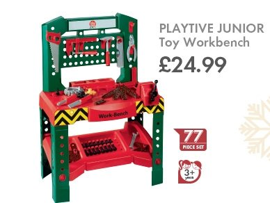 Playtive junior toy work bench lidl 14 12 15 for Playtive junior bois