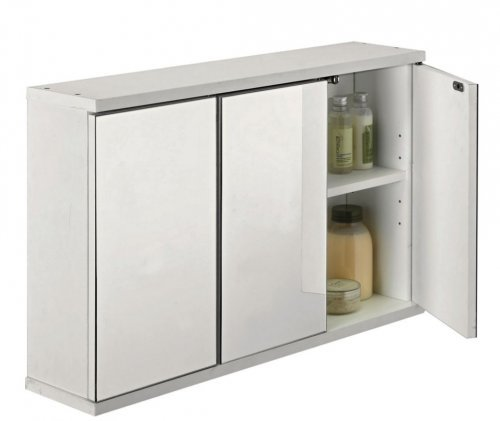 3 door mirrored bathroom cabinet white was now. Black Bedroom Furniture Sets. Home Design Ideas