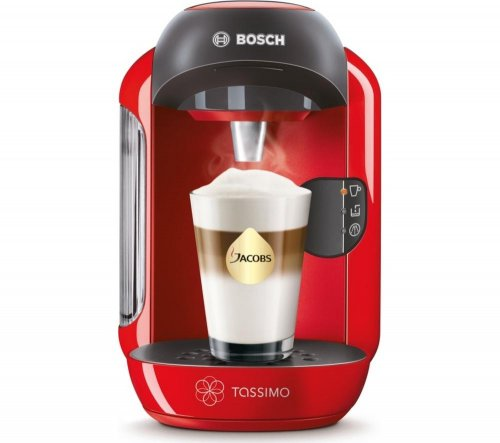 From Currys! CHEAPER THAN AMAZON! BOSCH Tassimo Vivy II TAS1253GB Hot Drinks Machine - Red ...