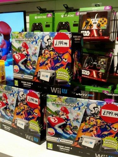 Wii u premium console bundle w mario kart 8 installed - Wii console mario kart bundle ...