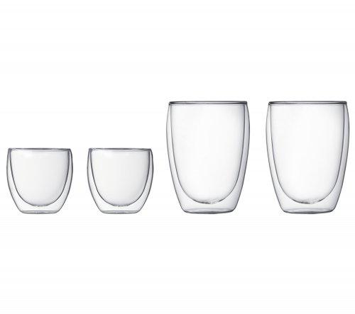 Bodum pavina double wall glass set glass set 4 pieces for Double glazing deals