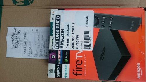amazon fire tv box 4k normal version refurb at. Black Bedroom Furniture Sets. Home Design Ideas